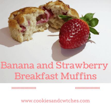 Banana and StrawberryBreakfast Muffins
