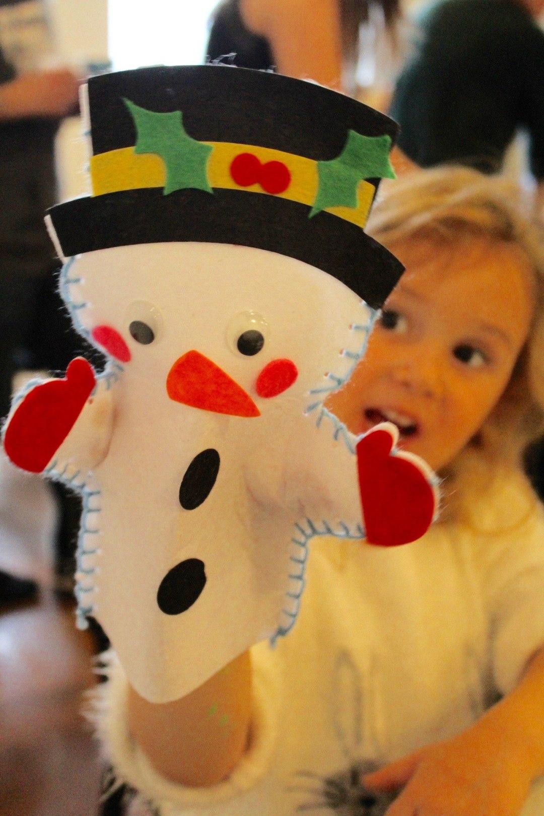 snowman hand puppet