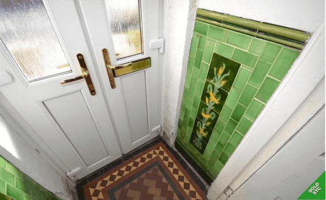 original victorian entryway tiles