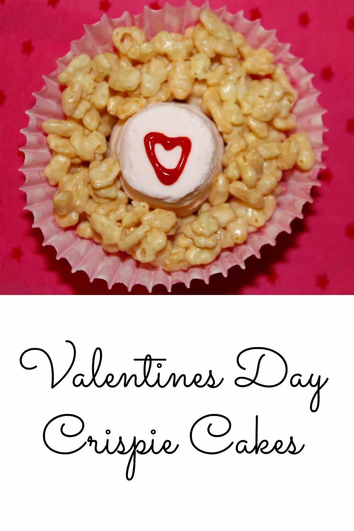 valentines crispie cakes