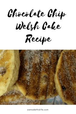 Chocolate Chip Welsh Cake Recipe