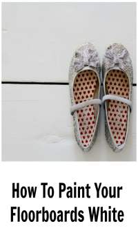 How to paint floorboards white