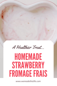 homemade strawberry fromage frais