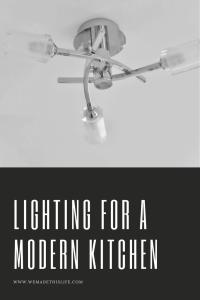 lighting for a modern kitchen