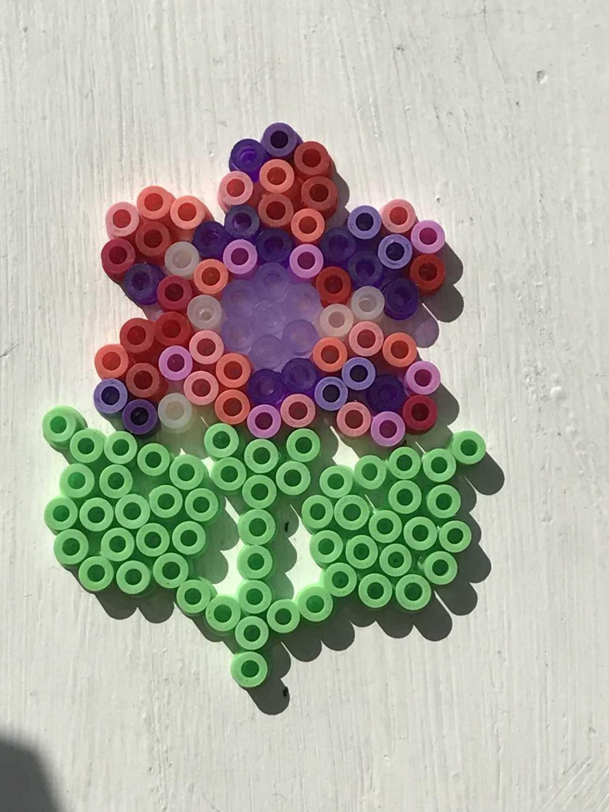 hama bead flower