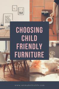 choosing child friendly furniture