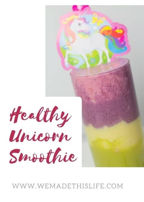 Healthy unicorn smoothie
