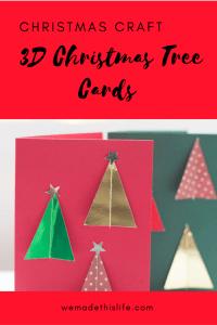 3D Christmas Tree Cards - Handmade Christmas Card Craft