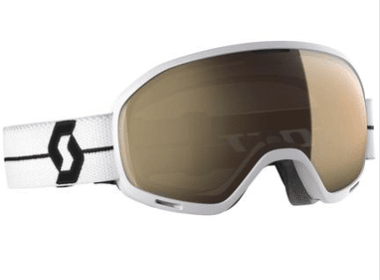 SCOTT UNLIMITED II OTG GOGGLE - WHITE WITH LIGHT SENSITIVE BRONZE CHROME