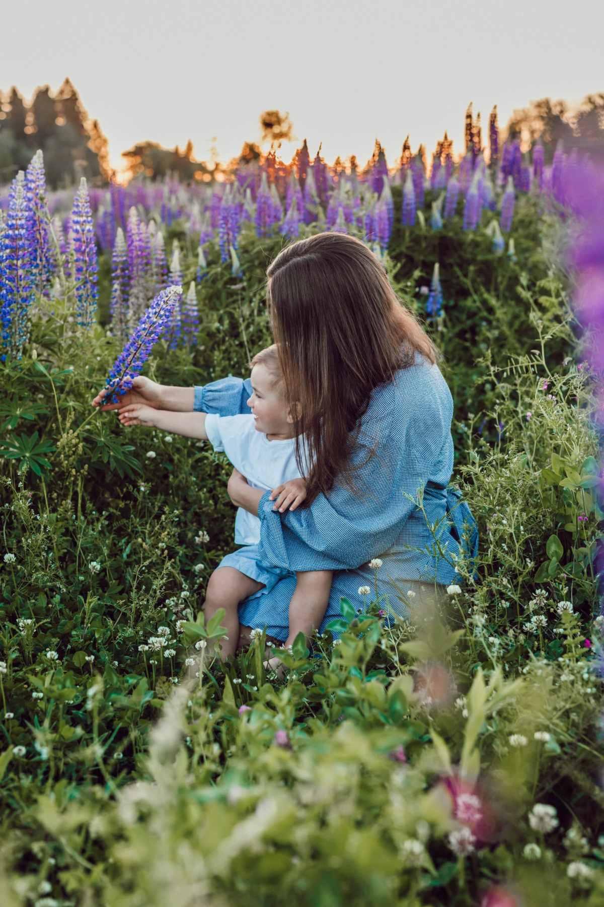 mum and son lavender