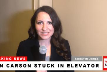 Breaking News: Ben Carson Stuck in Elevator (Video)