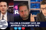 Fallon & Colbert offer Jim Jefferies Talk Show Tips (Video)