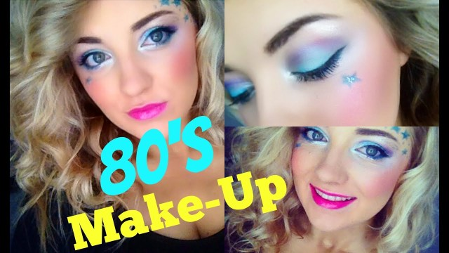 80S Eye Makeup 80s Girl Makeup Tutorial Youtube