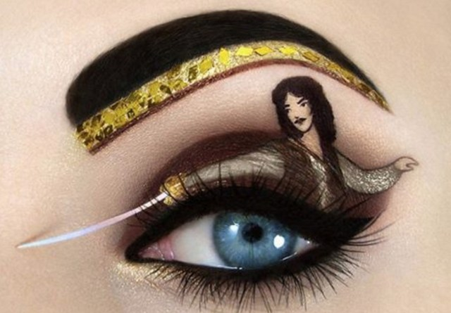 Amazing Eye Makeup Were In Awe Of This Amazing Pop Culture Eye Makeup Hellogiggles