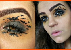 Bat Eye Makeup Bat Halloween Makeup Tutorial Youtube
