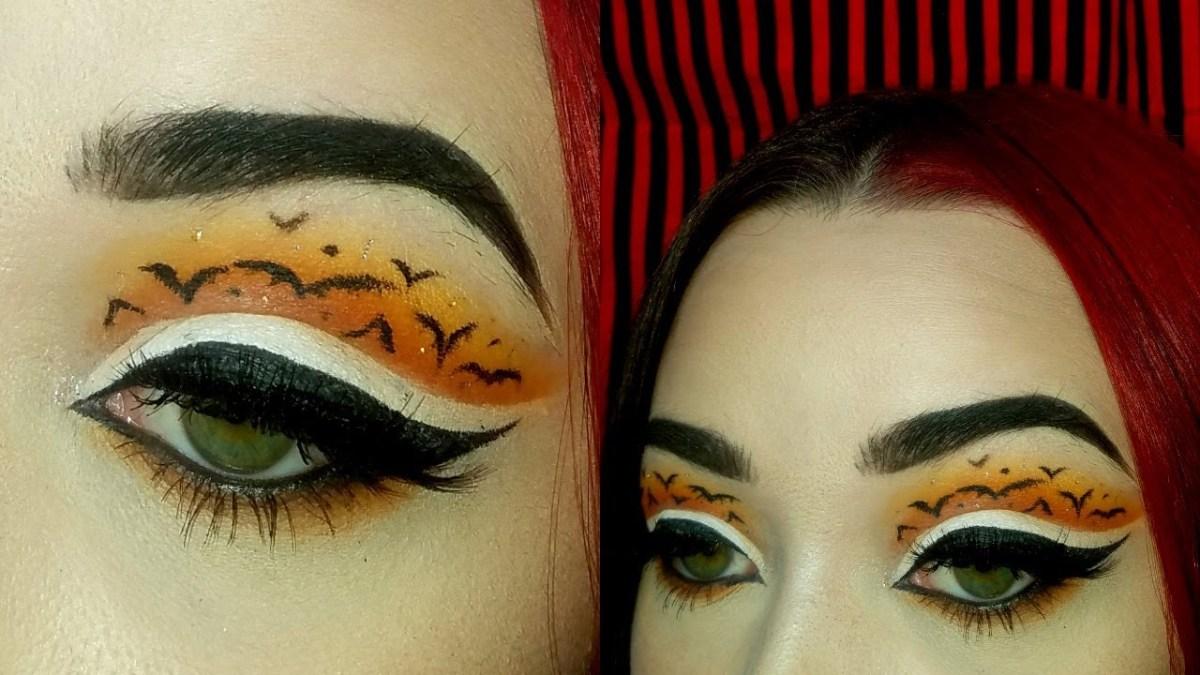 Bat Eye Makeup Glam O Ween Bat Cut Crease Eye Makeup Youtube