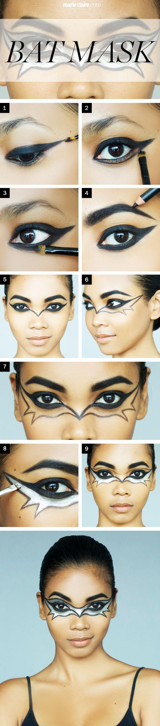 Bat Eye Makeup Halloween Makeup How To The Bat Mask