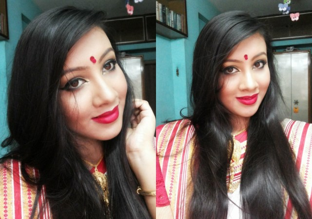 Bengali Eye Makeup Step Step Makeup Tutorial Of Durga Puja Special Traditional