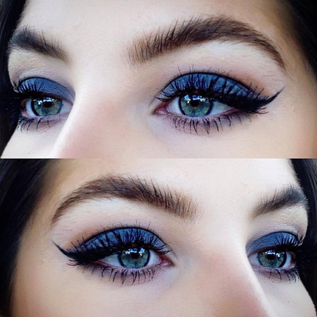 Best Way To Do Makeup For Blue Eyes How To Rock Blue Makeup Looks 20 Blue Makeup Ideas Tutorials