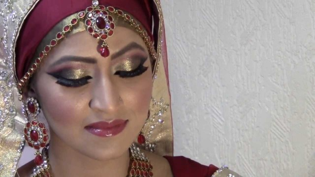 Bridal Eyes Makeup Pictures Hijabi Bride Make Up For Small Eyes Youtube