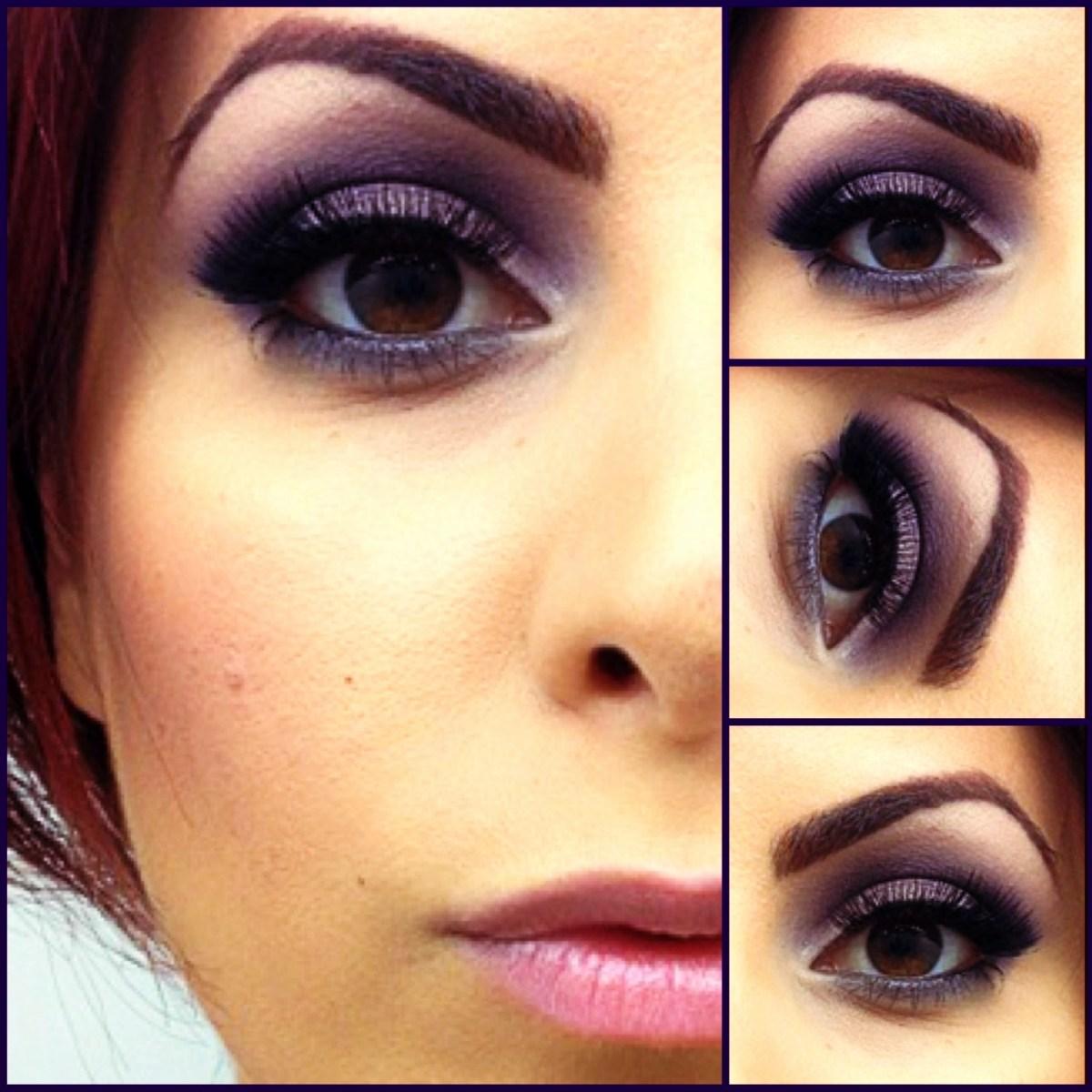 Brown And Purple Eye Makeup Eye Shadow Makeup Sharona