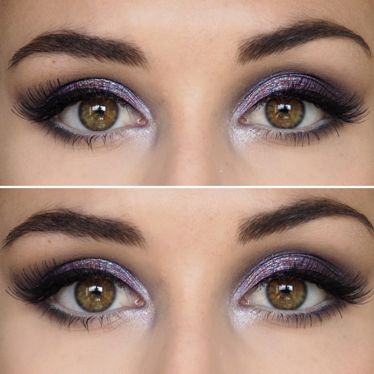 Brown And Purple Eye Makeup Katie Ann Hall Purple Glitter Eye Makeup Look