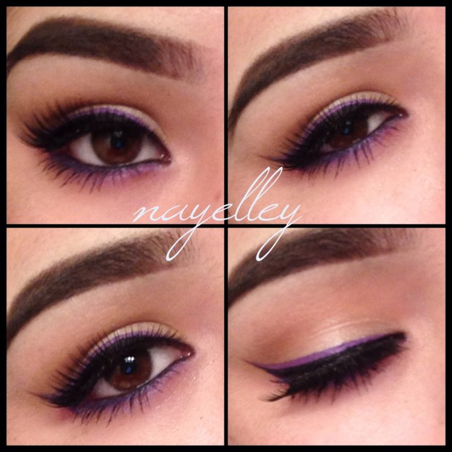 Brown And Purple Eye Makeup Makeup Nayelley Brown Eye Girl Series Purple Double Winged Eyeliner