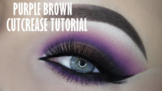 Brown And Purple Eye Makeup Purple And Brown Smokey Cutcrease Youtube