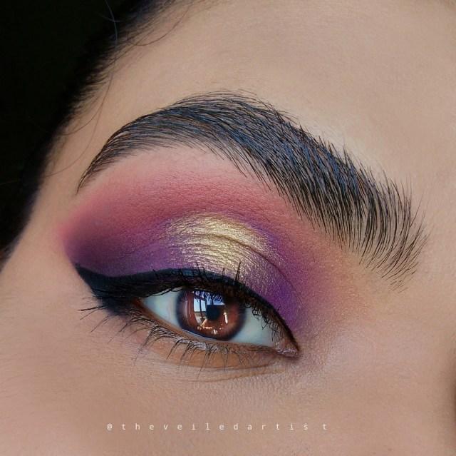 Brown And Purple Eye Makeup Purple Gold Spotlight Smokey Eyes Tutorial The Veiled Artist