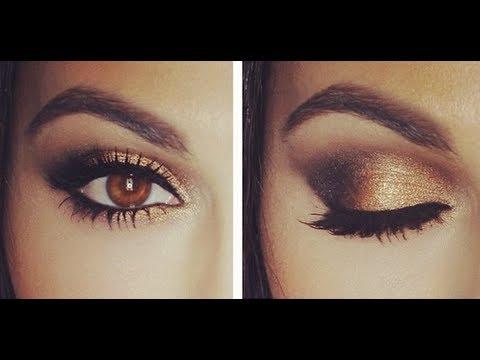 Brown Eyes Makeup Tutorial Gold Smokey Eye Tutorial Eye Makeup Tutorial Teni Panosian Youtube