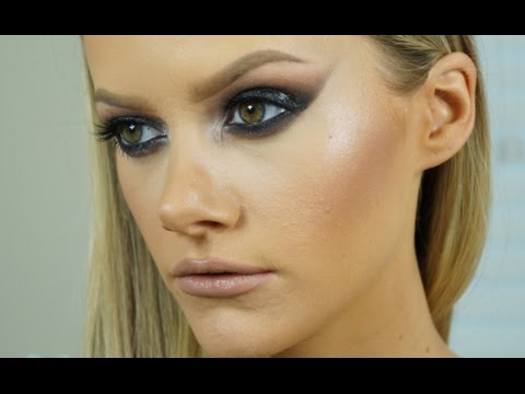 Edgy Eye Makeup Glossy Black Eye Makeup Tutorial High Fashion Edgy Youtube