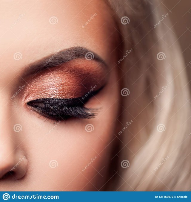 Eye Makeup Evening Female Eye With Evening Makeup Bright Makeup Eye Shadow And Lashes