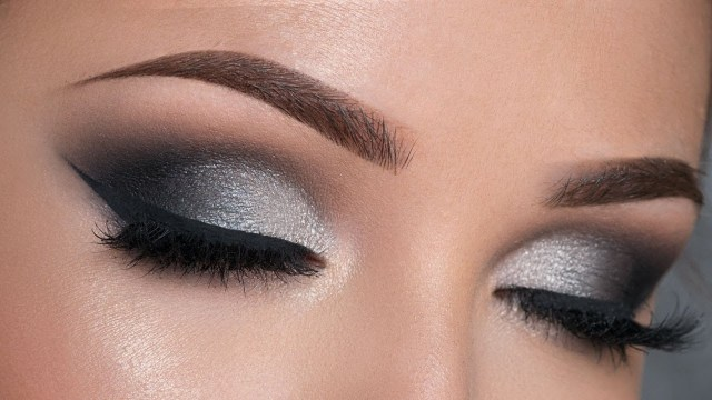 Eye Makeup Evening Night Out Makeup Tutorial Black Silver Smokey Eye Youtube