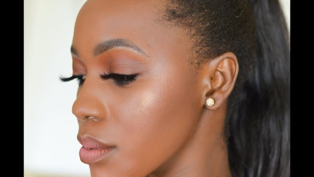 Eye Makeup For Light Brown Skin Brown Neutral Makeup For Black Women Glowy Dark Skin Makeup