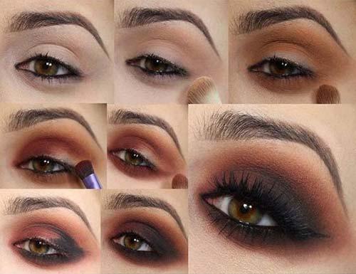 Eye Makeup Smokey Brown 25 Gorgeous Eye Makeup Tutorials For Beginners Of 2019