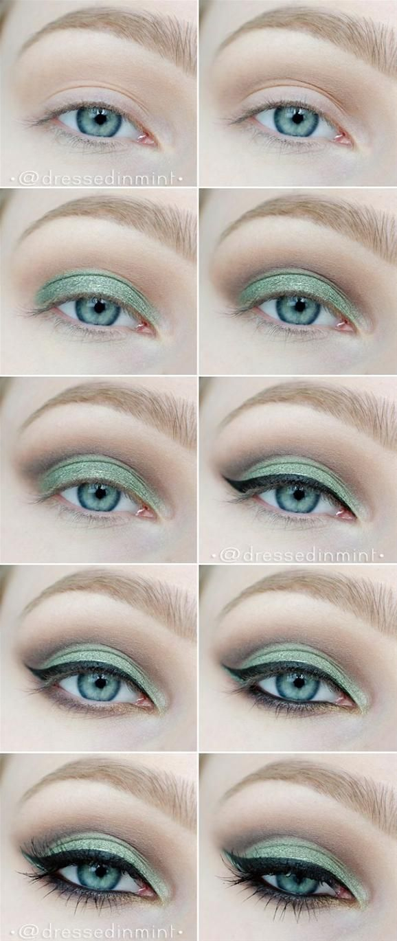 Eye Makeup With Turquoise Dress 10 Step Step Makeup Tutorials For Green Eyes Her Style Code