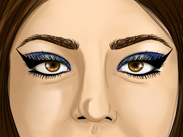 Eye Makeup With Turquoise Dress How To Apply Egyptian Eye Makeup With Pictures Wikihow