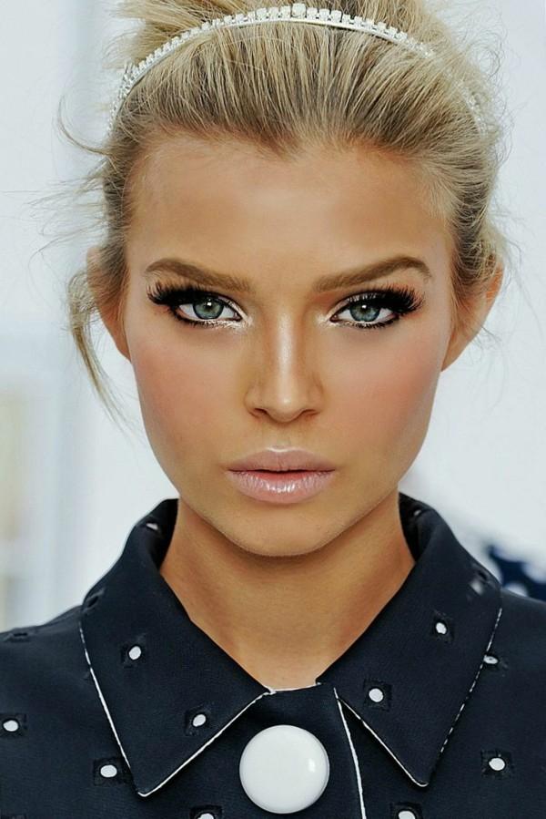 Eye Makeup With White Dress Eye Makeup To Match Black And White Dress Saubhaya Makeup