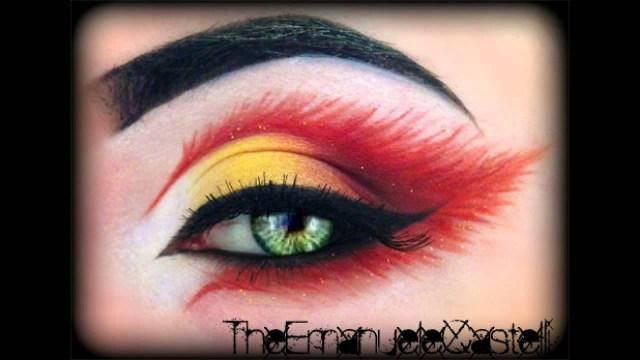 Fairy Eye Makeup Fires Fairy Halloween Make Up Inspired Klairedelysart Trucco