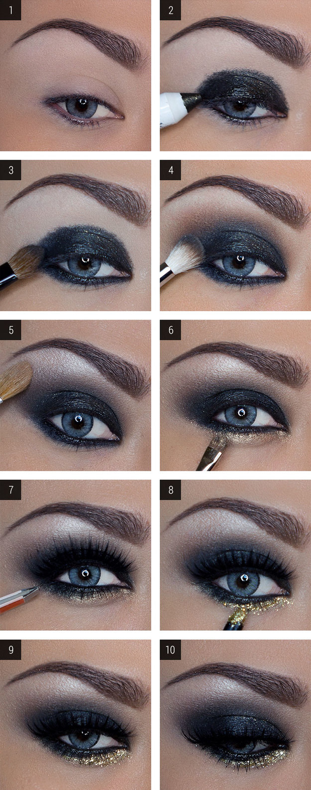 creative formal makeup ideas for blue eyes - wemakeupto