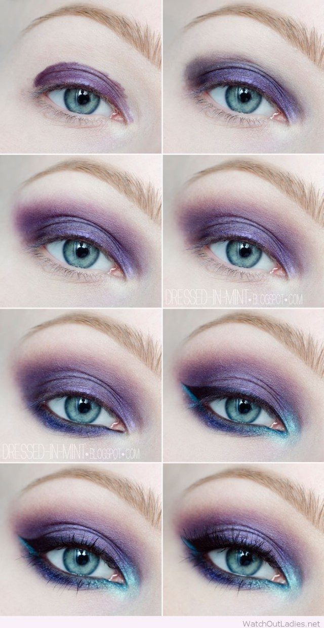 Formal Makeup Ideas For Blue Eyes Best Ideas For Makeup Tutorials Purple And Blue Eye Makeup