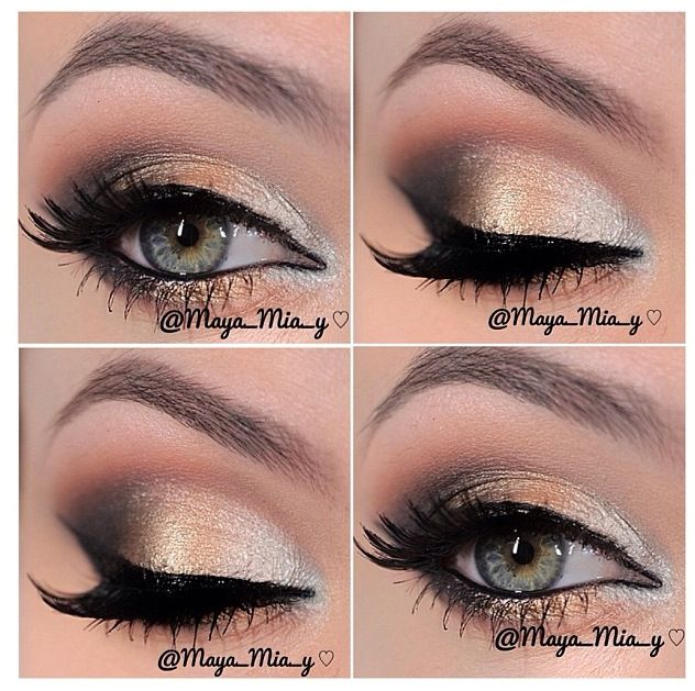 Gold And Smokey Eye Makeup 14 Overwhelming Smokey Eye Makeup Looks And Tutorials Pretty Designs
