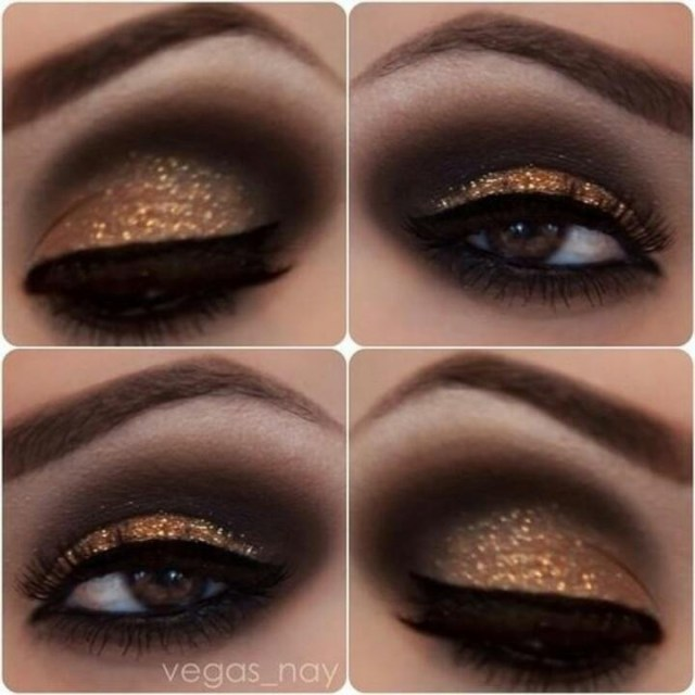 Gold And Smokey Eye Makeup Black And Gold Smokey Eye Makeup Eye Makeup
