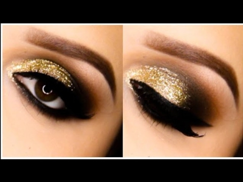 Gold And Smokey Eye Makeup Golden Smokey Eyes For Beginners Step Step Guidetutorial