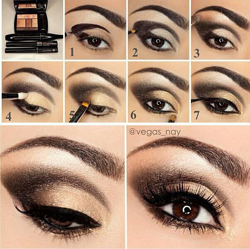 Gold And Smokey Eye Makeup How To Do Smokey Eye Makeup Top 10 Tutorial Pictures For 2019