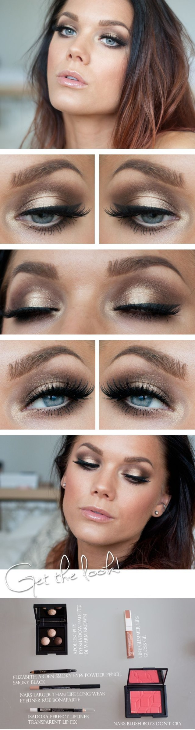 Gold Eye Makeup Tutorial 10 Gold Smoky Eye Tutorials For Fall Pretty Designs
