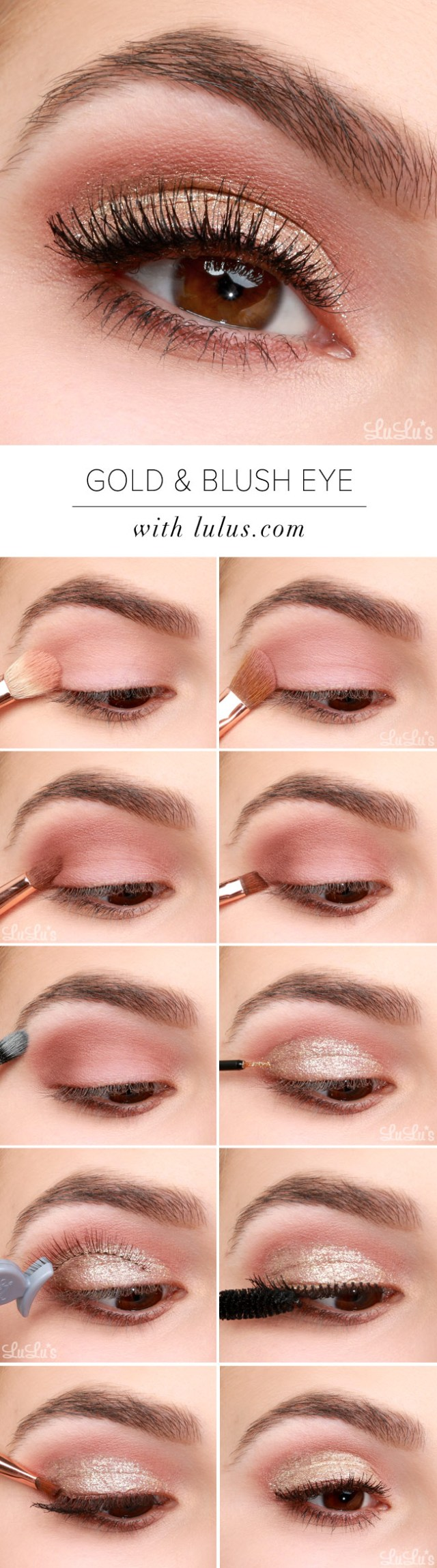 Gold Eye Makeup Tutorial Lulus How To Gold And Blush Valentines Day Eye Makeup Tutorial