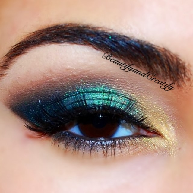 Gold Eye Makeup Tutorial Shimmery Turquoise And Gold Holiday Makeup Tutorial