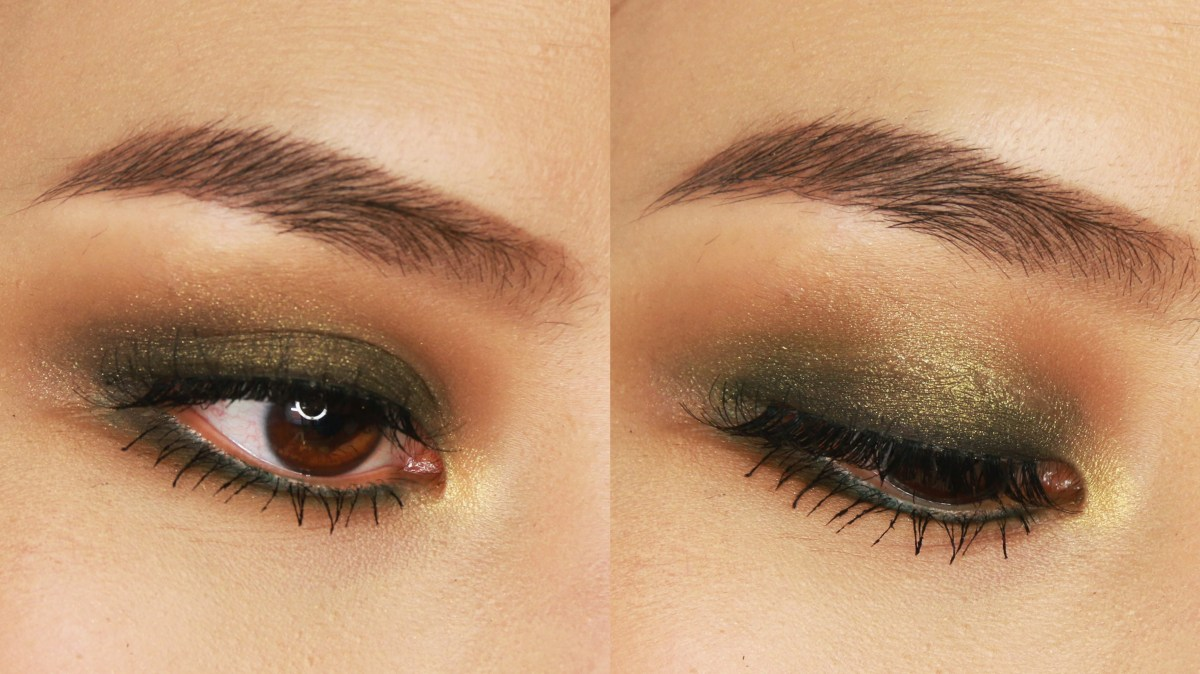 Gold Makeup For Green Eyes 5 Minute Green Smokey Eye Makeup Tutorial For Small Or Hooded Eyes