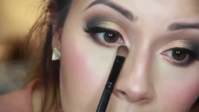 Gold Makeup For Green Eyes Green Gold Smokey Eye Makeup Tutorial Youtube